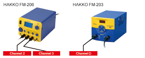 Combined use with HAKKO FM-206 with a large LCD panel