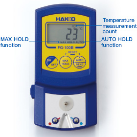 Eliminate human error in manual recording of measurement result by using FG-100B