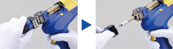 how to change set temperature hakko without tool