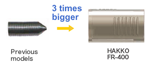 Featuring new filter pipe 3 times larger than the previous model
