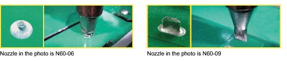 Lineup of nozzles for large components