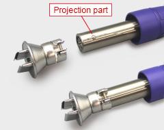 Use conventional HAKKO nozzles