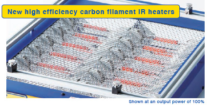 High efficiency carbon heater