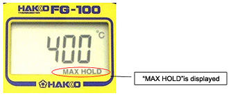 Display Sample of MAX HOLD Function