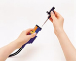 (3) Pull the nozzle remover with the nozzle cartridge in one stroke.