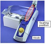 1. Setting before sealing