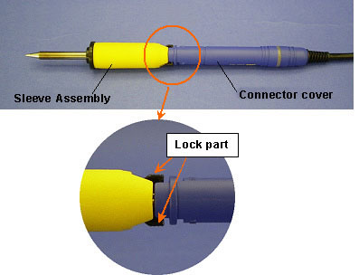 Lock-type sleeve assembly attachment