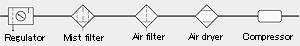 Air tube Outer diameter: 6mm
