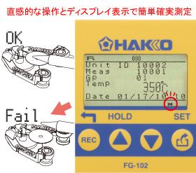 溫度測量的水平調節支持測量誤差零,測量溫度的通過/失敗判斷