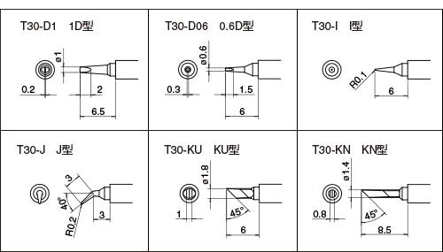 FM-2032 専用こて先 T30 シリーズ