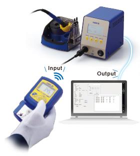 通过红外通讯发送烙铁头温度测量结果自动完成校准/校正